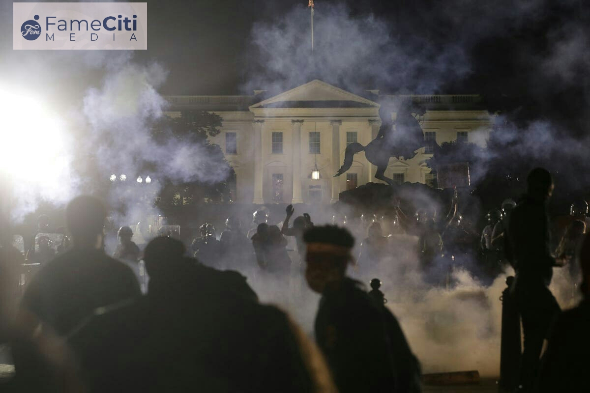 Protests Near White House Spiral Out of Control Again
